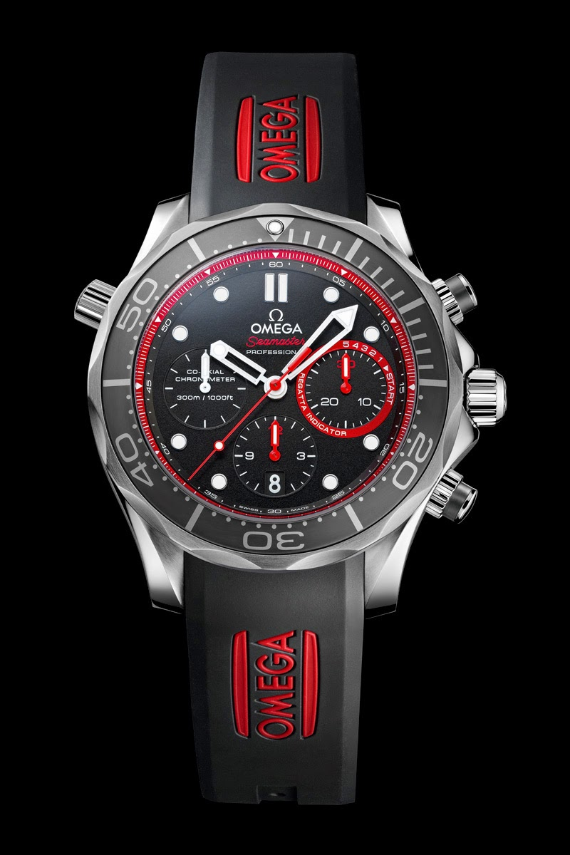 Watches by sjx news omega seamaster diver etnz limited edition for the 2013 america 39 s cup for Omega diver