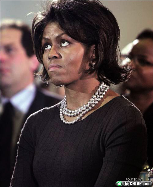 michelle obama ugly face