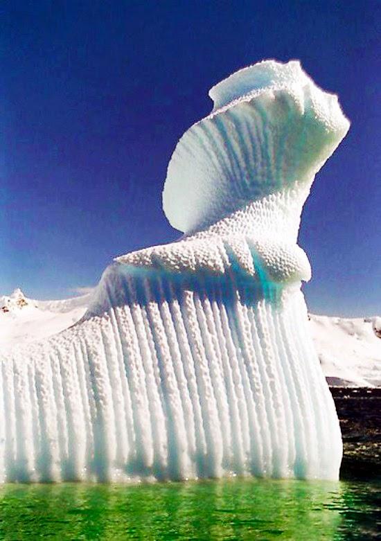 Spiral iceberg in Antarctica