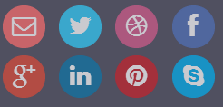 flat social button design