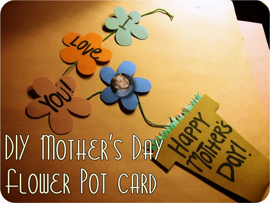 Mother Day Flowers and Card