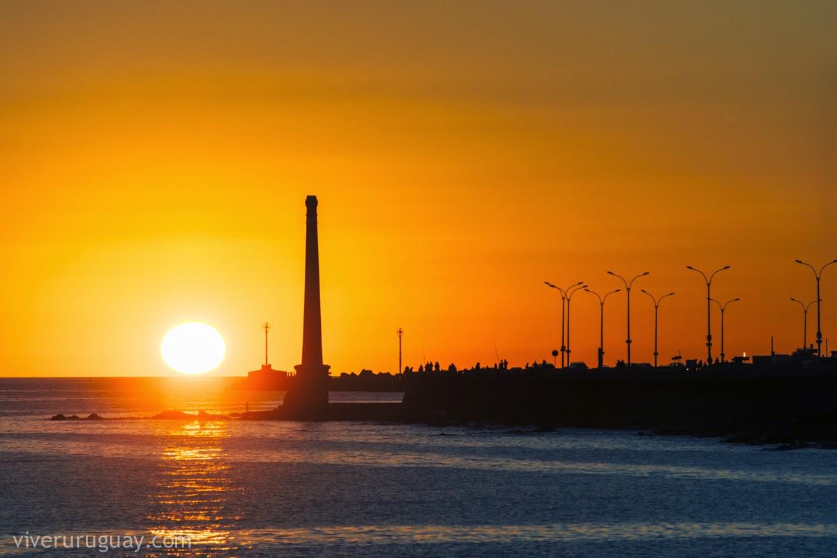 O por do sol em Montevidéu