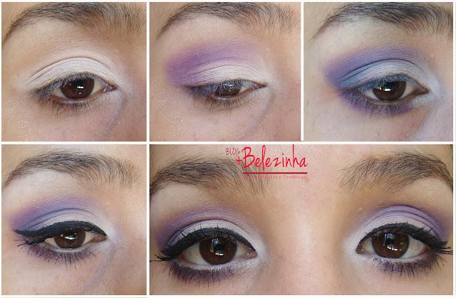 maquiagem-sombra-lilás-creme-romântica