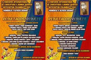RESULTADOS DEL 2 CONCURSO INTERNACIONAL DE CARICATURA Y HUMOR GRAFICO - NOTICARTUN COLOMBIA - 2015