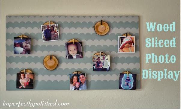 Wood Sliced Photo Display