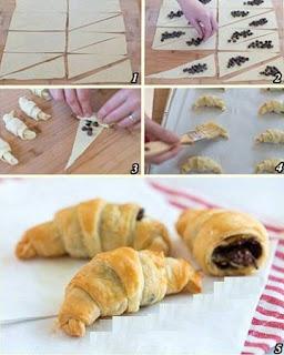 Como Hacer Croissants con Chocolate, Pasteleria Facil, Postres Rapidos