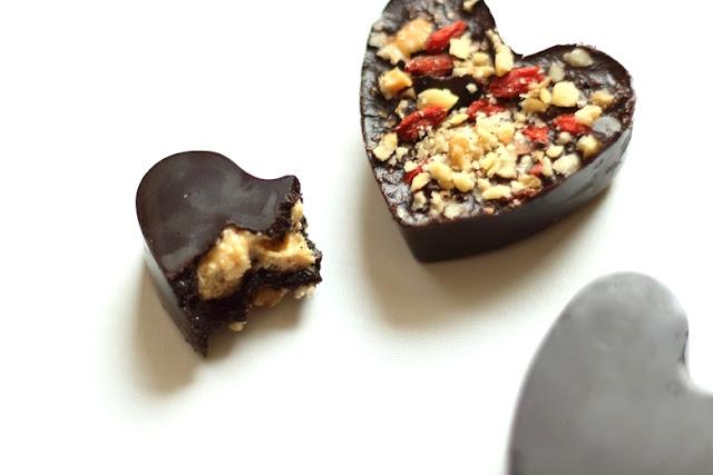 wegańskie zdrowe czekoladki dietetyczne