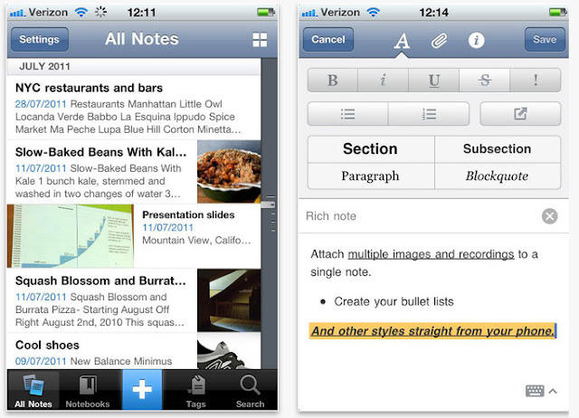 Evernote IOS Blog App