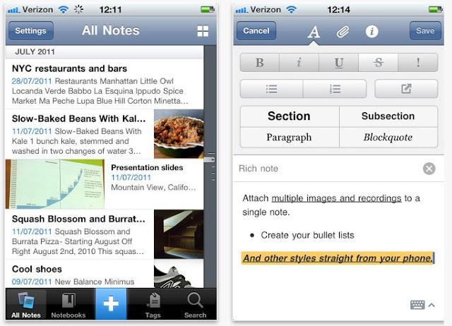 Evernote IOS Blog App