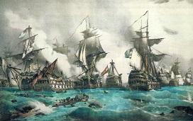 BATALLA DE TRAFALGAR (21/10/1805) REINO UNIDO, AUSTRIA, RUSIA, NÁPOLES,SUECIA Vs NAPOLEÓN BONAPARTE