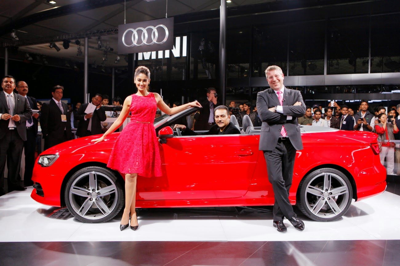 Ileana Dcruz at Audi A3 Cabriolet launch Photos.