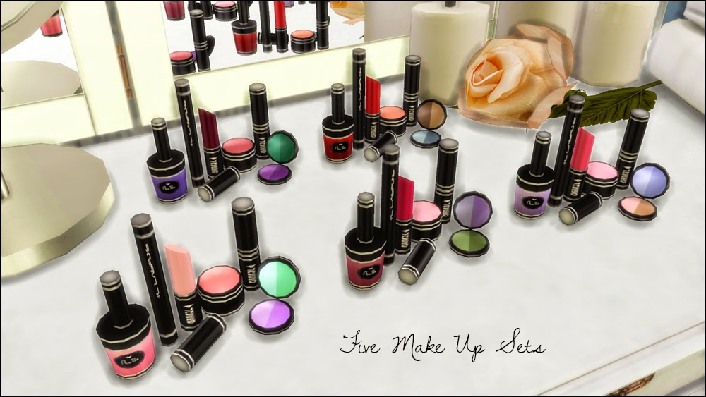 Sims Blog Makeup Perfume Set Vanity Mirror
