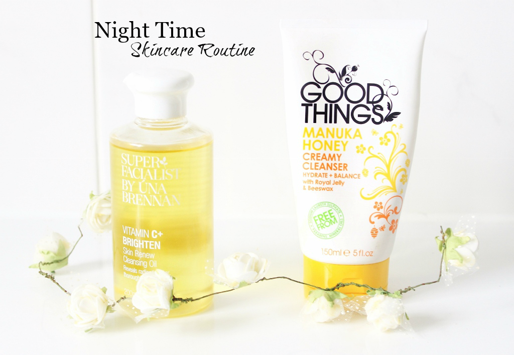 Superfacialist Vitamin C+ Skin Renew Cleansing Oil by Una Brennan and Good Things Manuka Honey Creamy Cleanser