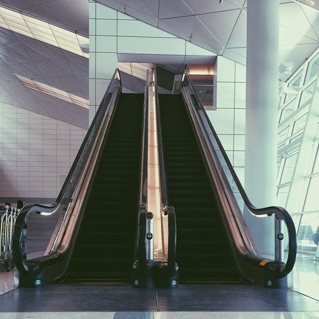 Escalators at Dallas Fort Worth Airport