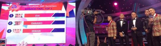 Evi masamba da2  Memperoleh polling sms tertinggi 22 mei 2015 Peluang besar Lolos ke 2 besar dangdut academy 2
