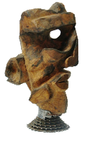 Masque en bois d'olivier par Batistin
