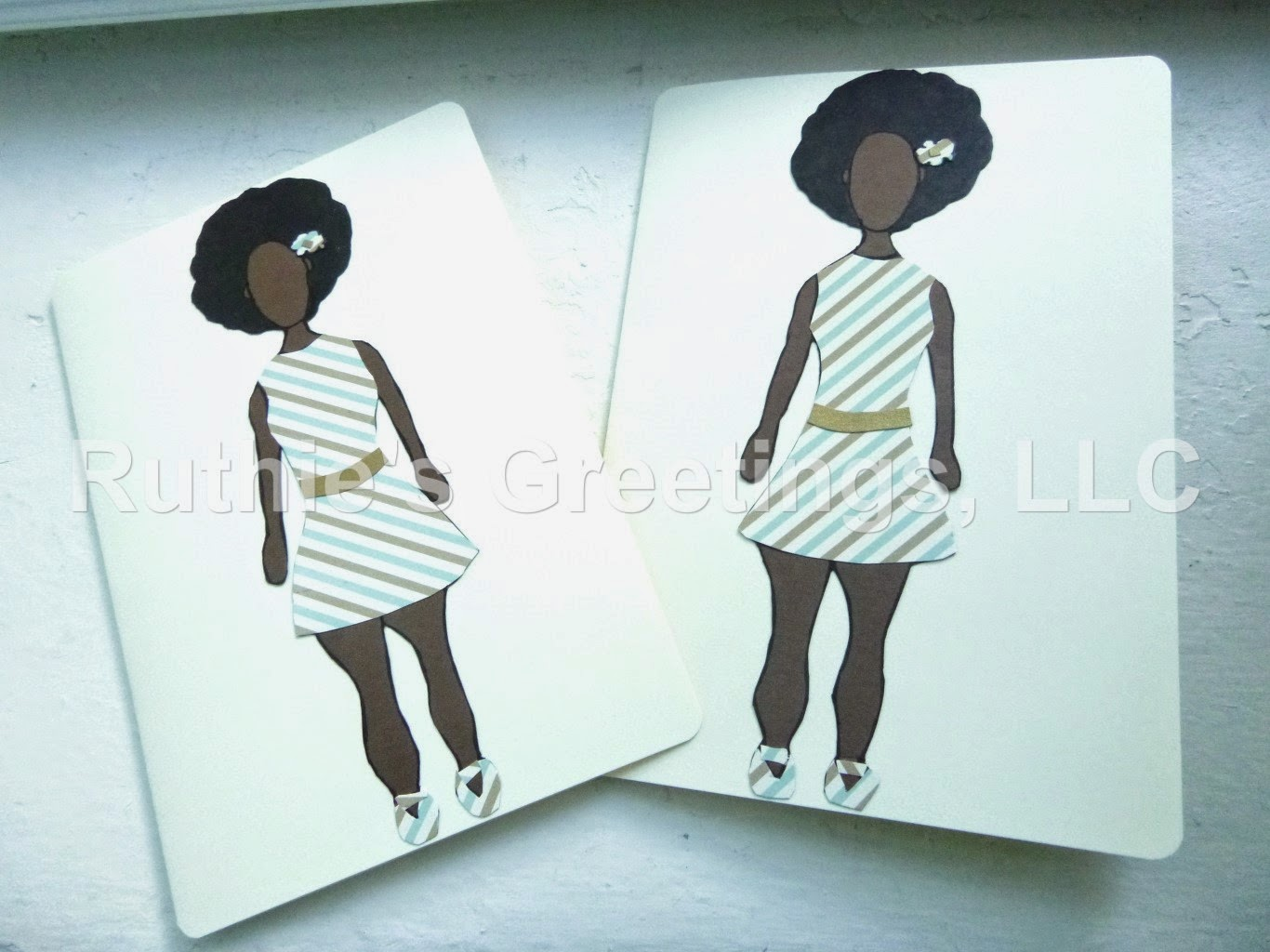 Single braids double twisted bun and my new greeting cards fraternal twins afro style greeting cards from the ruthies greetings etsy shop kristyandbryce Image collections