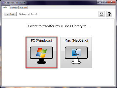 transfer iTunes from pc to pc