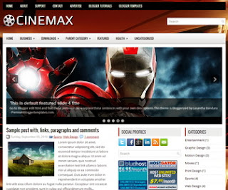 Cinemax blogger template