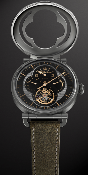 BELL & ROSS WW2 MILITARY TOURBILLON CON TAPA ABIERTA