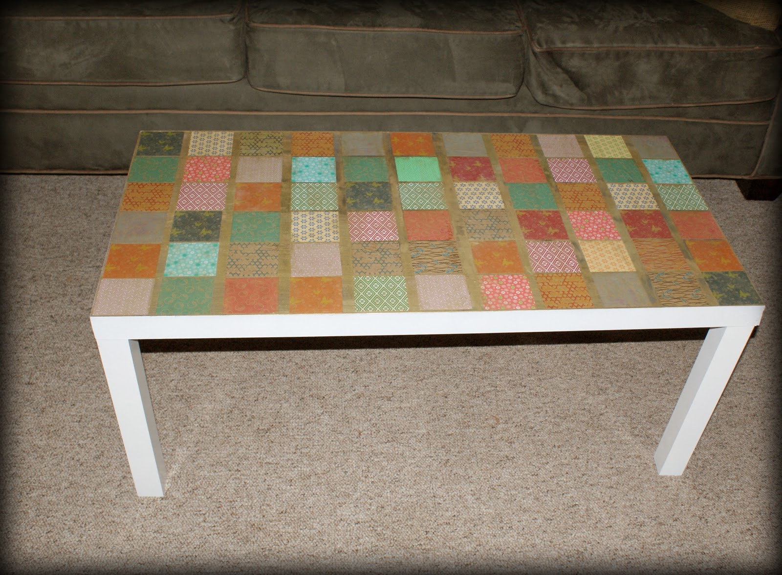 flea market coffee table revamp