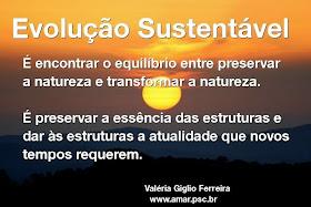 Evolução sustentável...