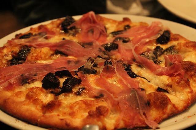 Prosciutto e fichi pizza at Nebo, Boston, Mass.