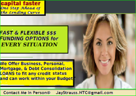 NEED MONEY !!- Unsecured Loans~Contact Me~Jay