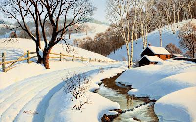 Paisajes con nieve en Invierno