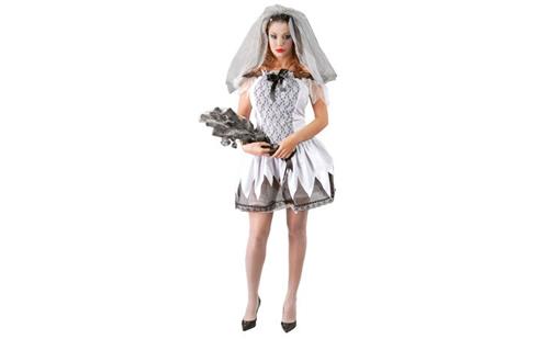 Disfraz de novia muerta para Halloween