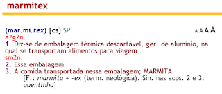 Definição de marmitex no Aulete