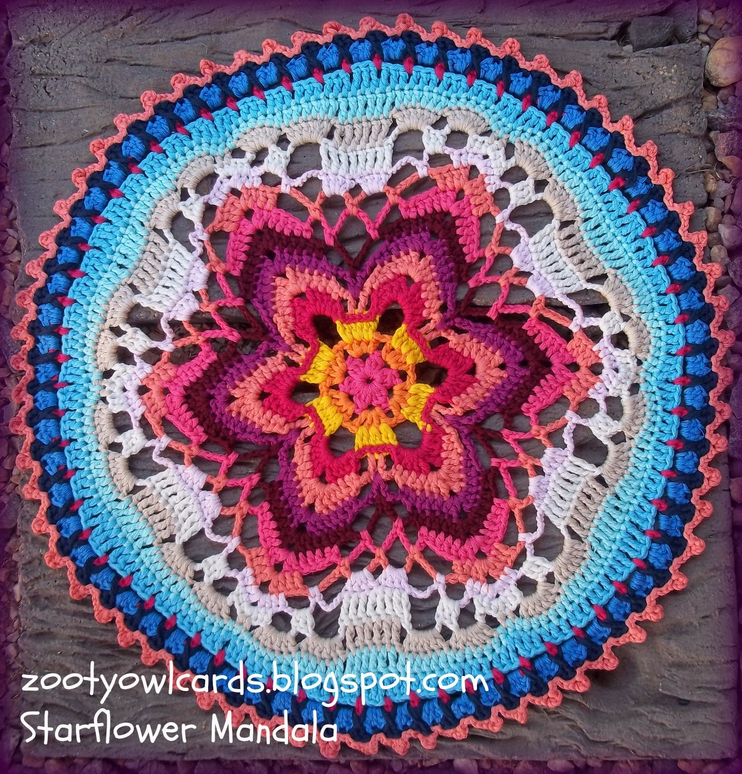 Crochet Free Pattern Mandala : Zooty Owls Crafty Blog: Starflower Mandala: Row by Row