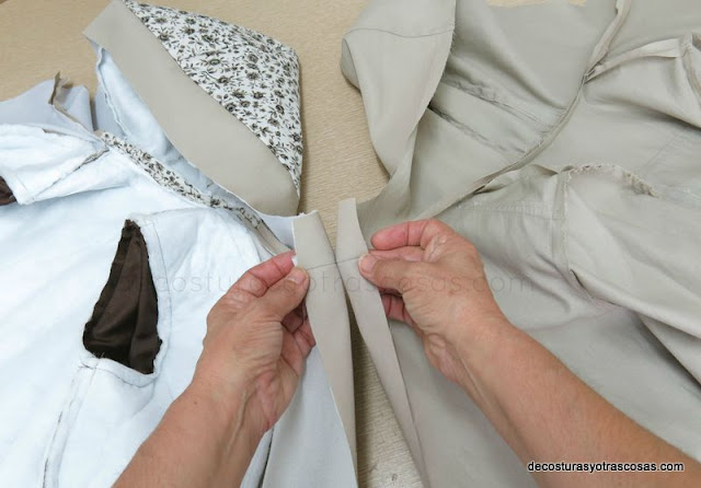como forrar un abrigo de niño