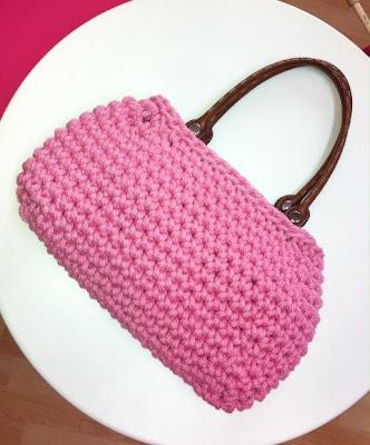 Bolso crochet de cuerda realizado en taller