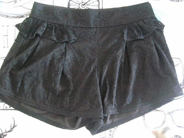 Short negro Primark, talla 10