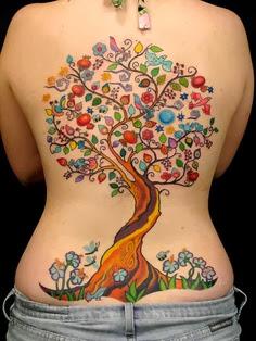 Colored Tree Tattoo