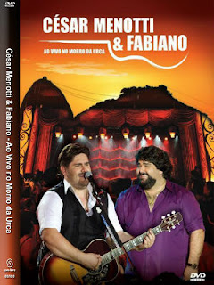 César Menotti e Fabiano Ao Vivo No Morro Da Urca DVD R Capa
