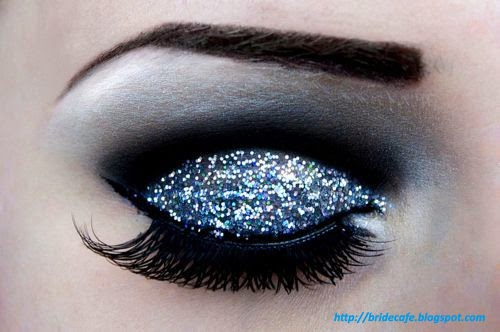Glittered Eye Makeup