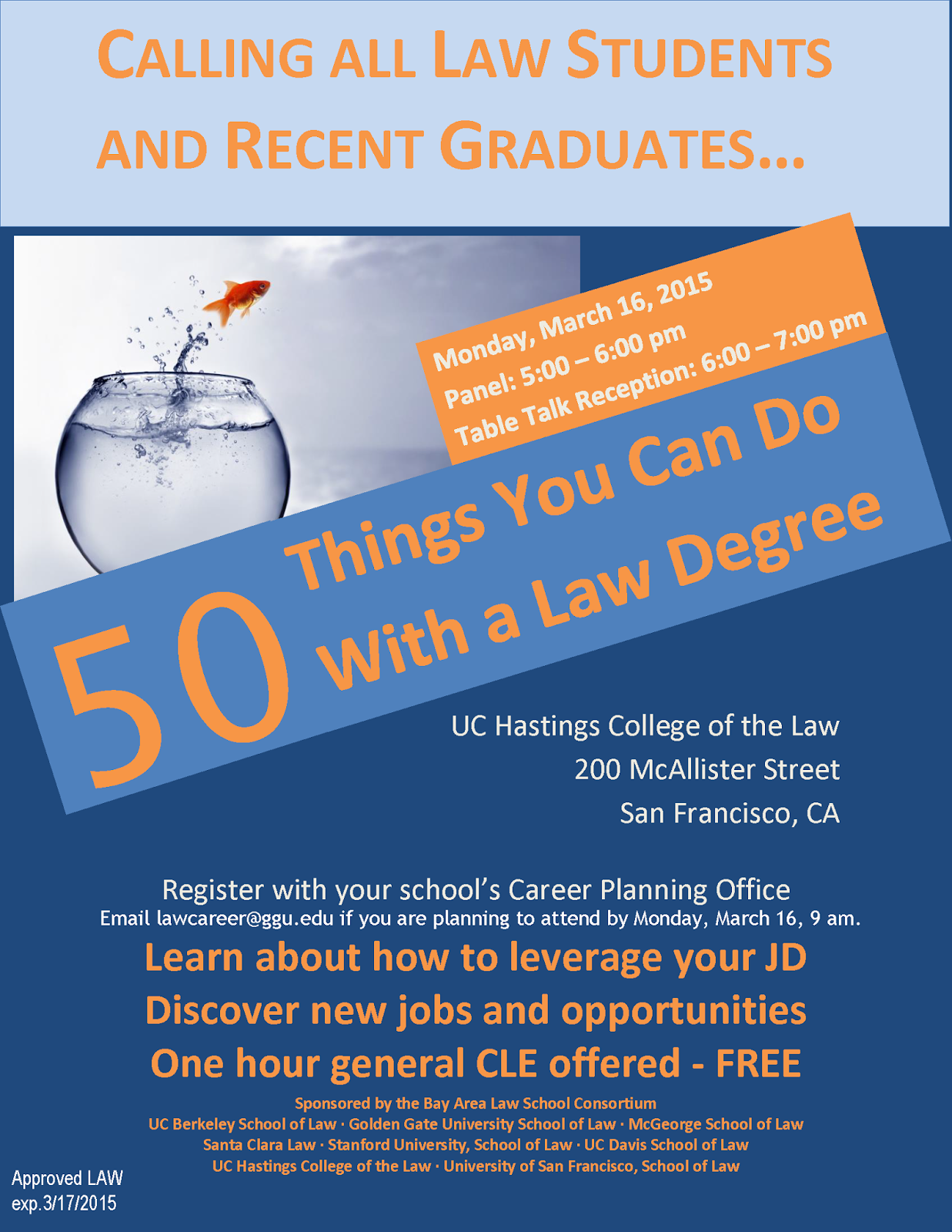 March 16, 50 Things You can Do with a Law Degree