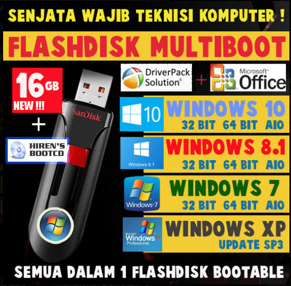 FLASHDISK MULTIBOOT 16GB