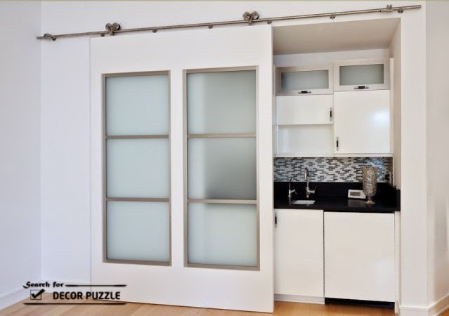 Interior sliding barn door designs uses styles and hardware for Sliding door styles