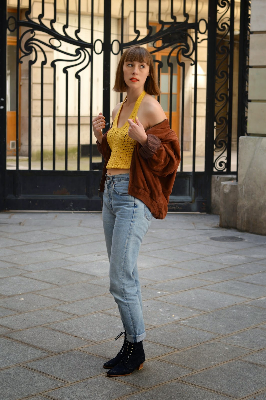 Key ss15 trends crochet, 501 levis jeans and suede jacket