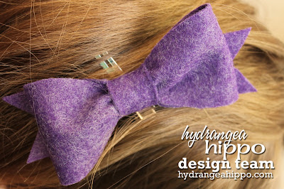Purple Felt Bow_Heather Landry_Hair Accessories