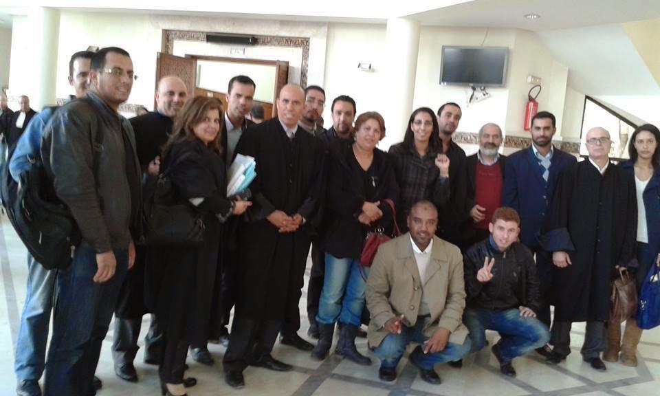 تأجيل محاكمة الأساتذة الثمانية المتابعين بتهم واهية وملفقة إلى يوم الاثنين المقبل