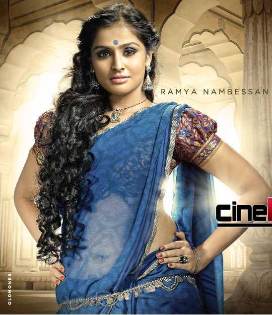 ramya nambeesan hot navel show pics photos in saree and