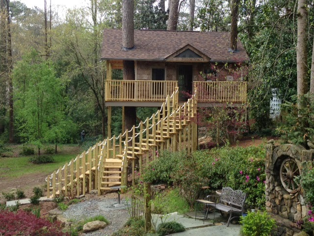 The amazing green house treehouse kits picture for Green home building kits