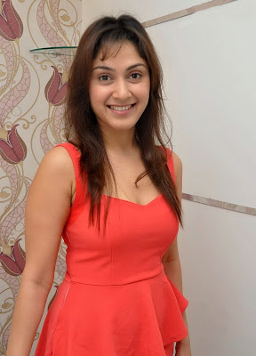 Manjari+(29) Manjari Phadnis Super Hot Photos in Red Dress At The Launch Of Naturals Family Salon & Spa