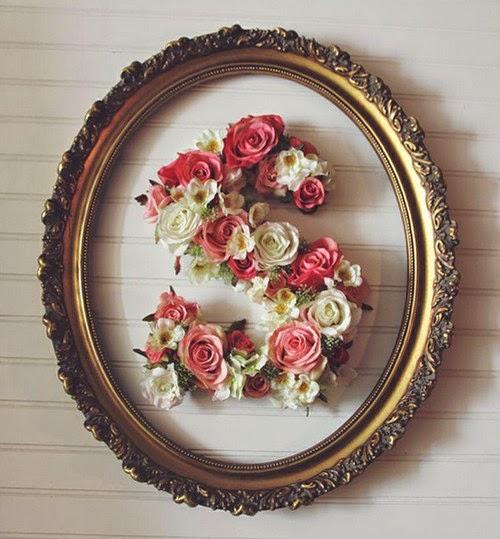 Letras Decortivas Hechas Con Flores Manualidades Faciles - Manualidades-con-flores-artificiales
