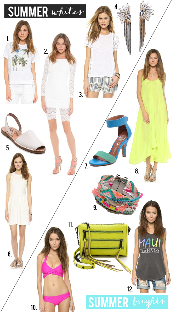Summer Whites // Summer Brights from Shopbop