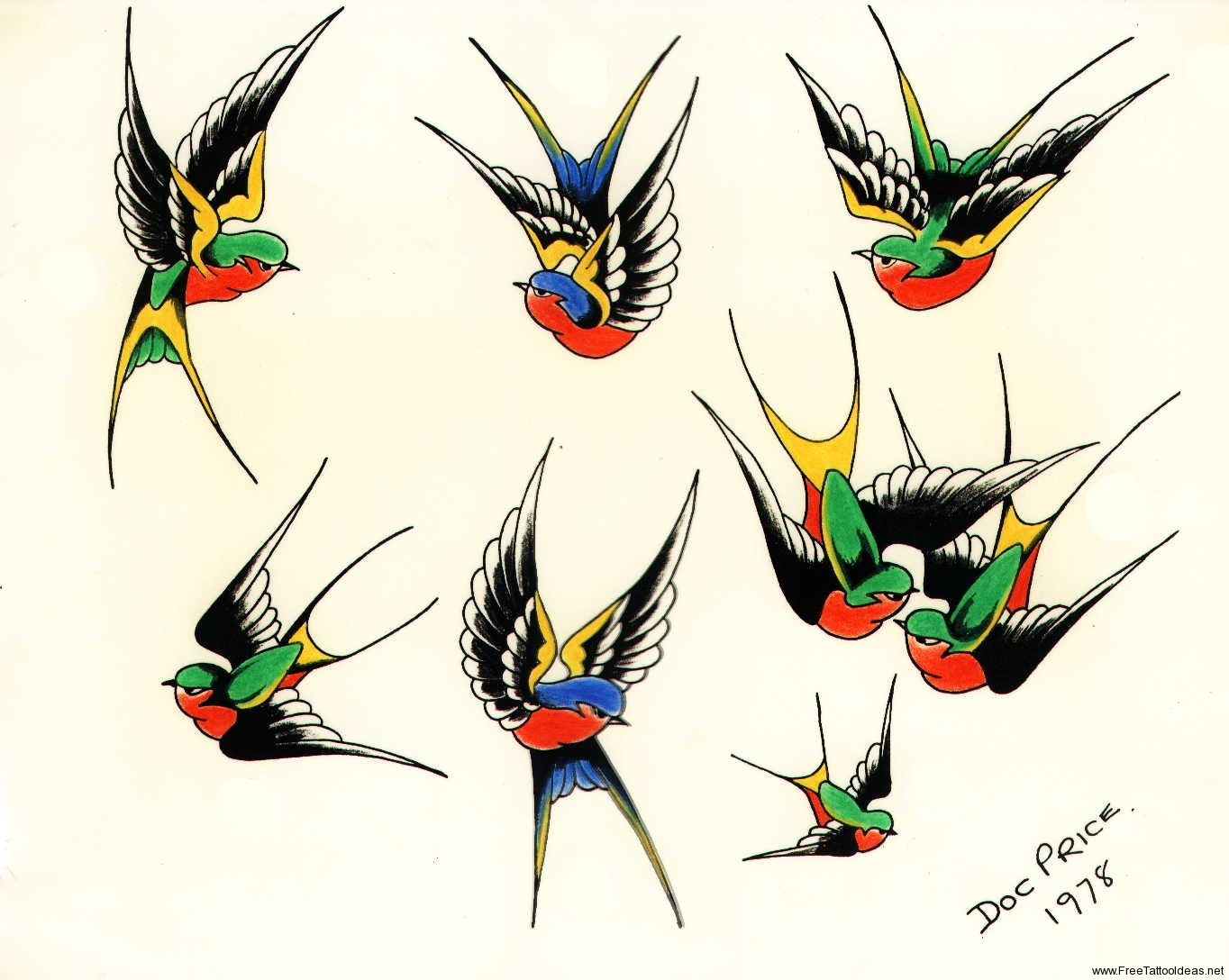 Birds tattoos for you traditional swallow bird tattoo for Swallow art tattoo
